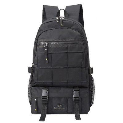 Buy BLACK Men Outdoor Trendy Water-resistant Nylon Backpack for $27.91 in GearBest store
