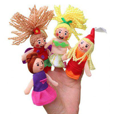 Finger Puppet with Fairy Tale Character Style 4PCS