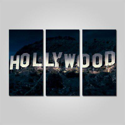 Buy COLORMIX JOY ART Hollywood Sign Print Framed Canvas Painting 3PCS for $44.23 in GearBest store