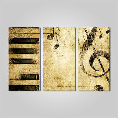 Buy COLORMIX JOY ART Abstract Music Print Framed Canvas Painting 3PCS for $44.23 in GearBest store