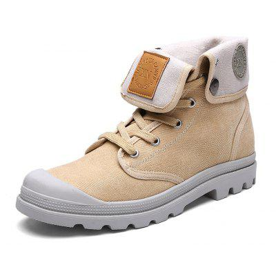 Men Trendy Casual Stitching Canvas Ankle Boots