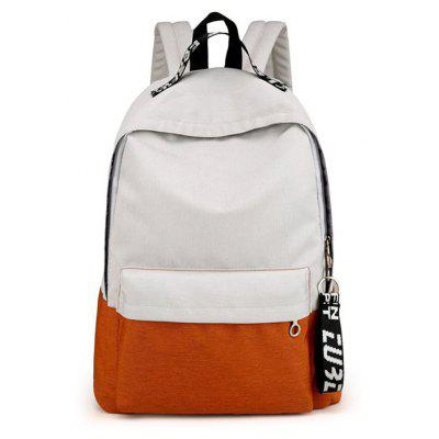 Buy OFF-WHITE Men Modern Simple Splicing Nylon Backpack for $18.58 in GearBest store