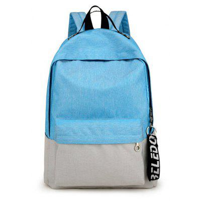 Hombres Modernos Simple Splicing Nylon Backpack