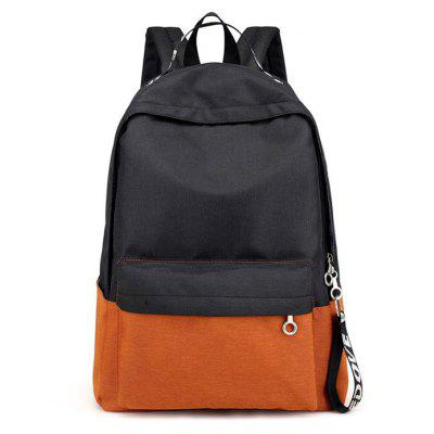 Buy BLACK Men Modern Simple Splicing Nylon Backpack for $18.58 in GearBest store