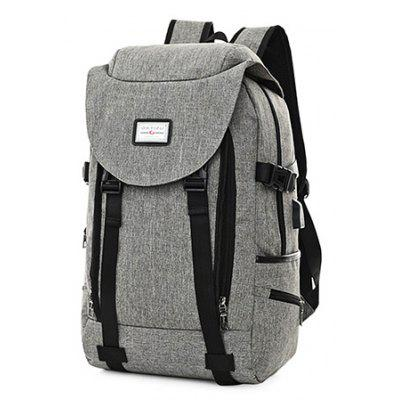 Buy GRAY Men Multifunctional Anti-theft Backpack with USB Port for $27.99 in GearBest store