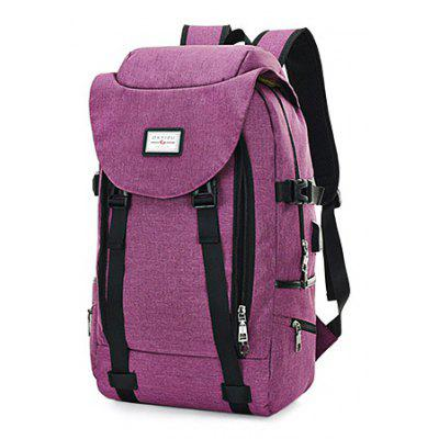 Buy PURPLE Men Multifunctional Anti-theft Backpack with USB Port for $27.99 in GearBest store