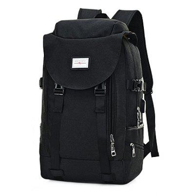 Buy BLACK Men Multifunctional Anti-theft Backpack with USB Port for $27.99 in GearBest store