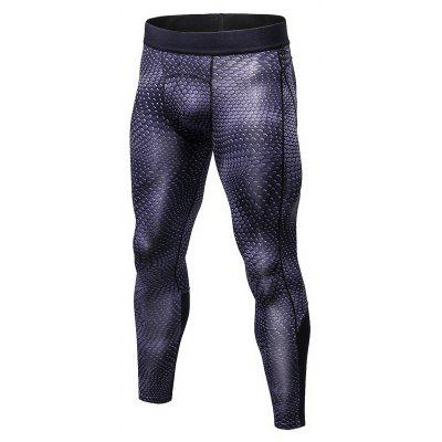 Male 3D Stereo Printed Sports Tight Pants