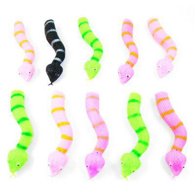 Plastic Finger Toy with Horrible Snake Style 12PCS