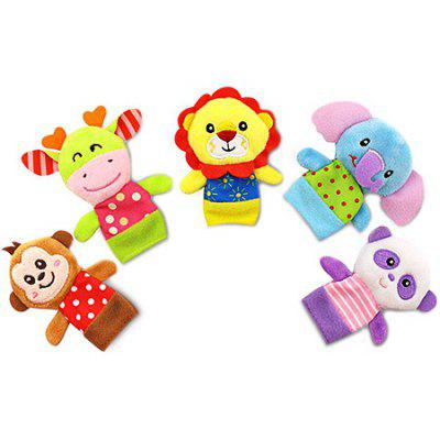 Finger Puppet with Cartoon Animals Image 5PCS