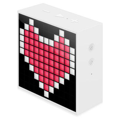 Divoom Timebox Smart Portable Bluetooth 4.0 LED SpeakerSpeakers<br>Divoom Timebox Smart Portable Bluetooth 4.0 LED Speaker<br><br>Audio Source: Bluetooth Enabled Devices,Electronic Products with 3.5mm Plug<br>Battery Capacity: 2500mAh<br>Brands: Divoom<br>Charging Time: 3 hours<br>Compatible with: iPod, Tablet PC, PSP, PC, MP5, Computer, MP3, Mobile phone, Laptop, MP4<br>Connection: Wireless<br>Design: Multifunctional<br>Freq: 60Hz-20KHz<br>Interface: 3.5mm Audio<br>Package Contents: 1 x Divoom Bluetooth Speaker, 1 x USB Cable, 1 x English Manual<br>Package size (L x W x H): 10.20 x 5.20 x 13.50 cm / 4.02 x 2.05 x 5.31 inches<br>Package weight: 0.5500 kg<br>Power Output: 5W<br>Product size (L x W x H): 9.00 x 3.80 x 9.12 cm / 3.54 x 1.5 x 3.59 inches<br>Product weight: 0.2920 kg<br>S/N: 70dB<br>Supports: Volume Control, Bluetooth<br>Working Time: 10 hours