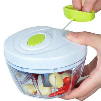 Vegetable Fruit Food Chopper Hand Held Rope Pull Out Type