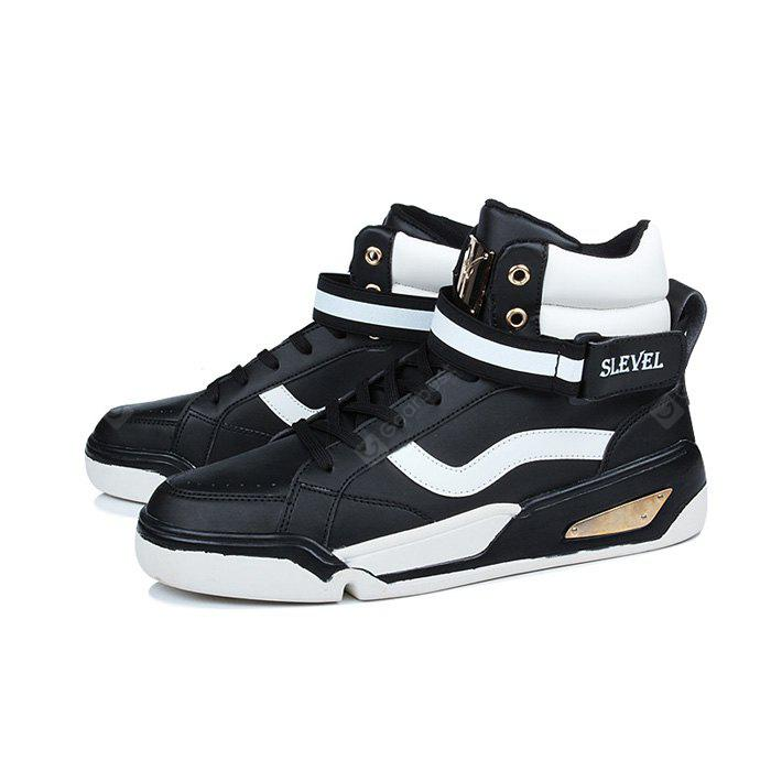 Male Street Metal High Top Cushion Sneakers
