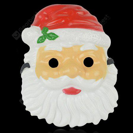 Plastic Santa Claus Pattern Mask for Kids