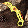 HX OUTDOORS ZD - 011 Folding Knife with Liner Lock - FLUORESCENT YELLOW