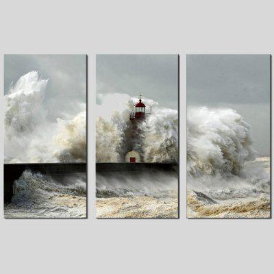 Buy COLORMIX JOY ART Hanging Print Sea Waves Framed Artwork 3PCS for $44.23 in GearBest store
