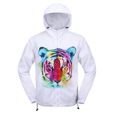 Buy WHITE L Mr 1991 INC Miss Go Colorful Tiger Printing Winter Jacket for $24.65 in GearBest store