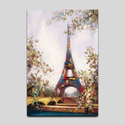 YHHP Modern Oil Painting Eiffel Tower Hanging Wall Art