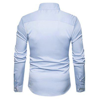 Business Simple Long Sleeve ShirtMens Shirts<br>Business Simple Long Sleeve Shirt<br><br>Closure Type: Button<br>Material: Cotton, Polyamide<br>Package Contents: 1 x Shirt<br>Package size: 40.00 x 30.00 x 4.00 cm / 15.75 x 11.81 x 1.57 inches<br>Package weight: 0.3200 kg<br>Pattern: Solid Color<br>Product weight: 0.3000 kg<br>Style: Classic<br>Thickness: Regular