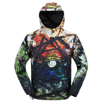 Buy COLORMIX XL Mr 1991 INC Miss Go Slim Fit Printing Winter Jacket for $24.65 in GearBest store