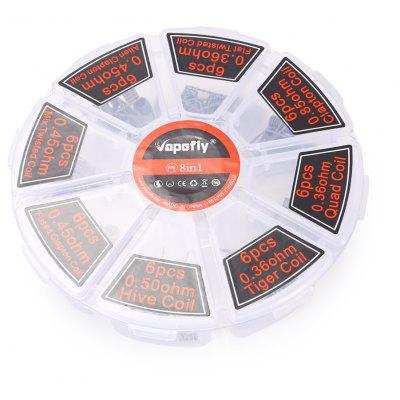 Vapefly 8-in-1 Heating Wire with 48pcs for E Cigarette