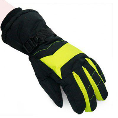 Paired Unisex Warm Keeping Windproof Ski Gloves