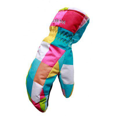 Child Paired Warm Keeping Windproof Ski Gloves