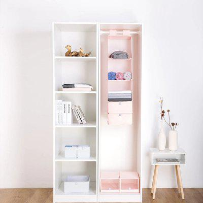 Xiaomi Youpin Mi Home Closet Hanging Storage Bag Natural Household Closet Organizer with 5 Layers