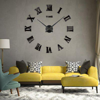 Timelike T4225 Creative Decal Number Design Wall Clock