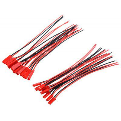 170mm Battery Wire with Male Female JST Plug 10 Pairs
