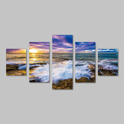 God Painting Canvas Prints Seawater