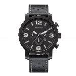 Gearbest Sports Casual Leather Band Men Quartz Watch