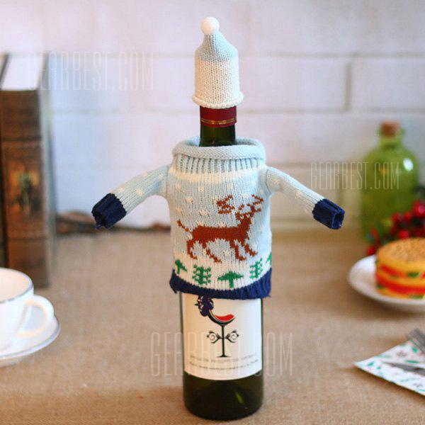 Knitting Wool Wine Bottle Cover for Christmas