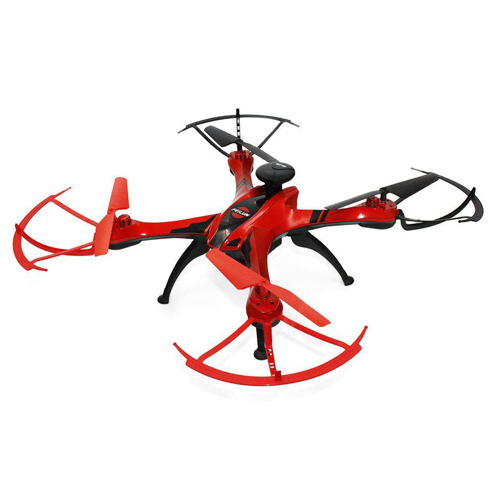 FEILUN FX176C2 GPS Brushed RC Quadcopter - RTF - RED 2MP CAMERA