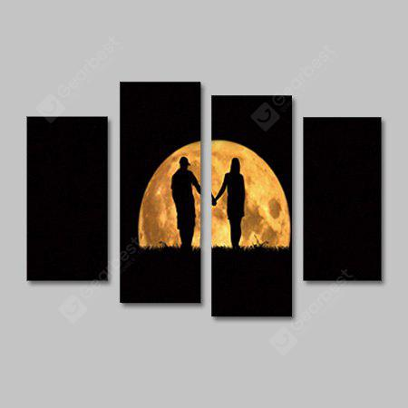 God Painting Canvas Prints Moon Lovers