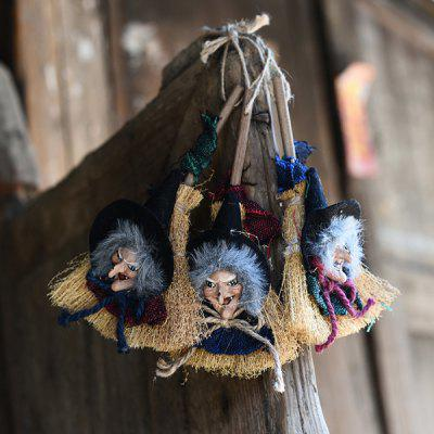 MCYH Halloween Witch Hanging Ornaments Props 3PCS