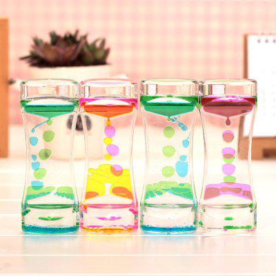 Liquid Oil Drop Motion Timer Decorative Hourglass 1pc - COLORMIX