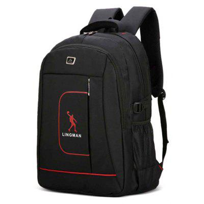Buy BLACK Men Stylish Solid Color Nylon Laptop Backpack for $25.30 in GearBest store