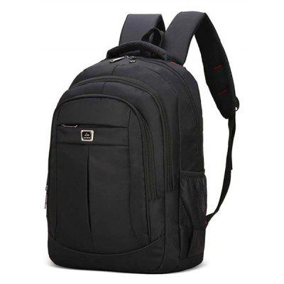 Buy BLACK Men Business Leisure Solid Color Nylon Laptop Backpack for $23.96 in GearBest store