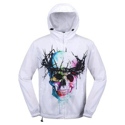 Buy COLORMIX L Mr.1991INC Miss.Go 3D Skull Printing Quick Dry Coat for $16.99 in GearBest store