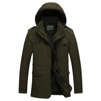 Buy ARMY GREEN L Classic Warm Padded Jacket with Hood for $51.99 in GearBest store
