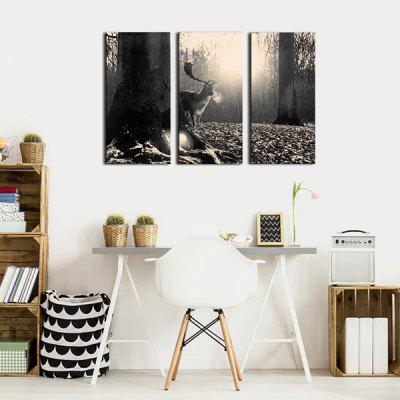 JOY ART A Deer in Forest Print Framed Canvas Painting 3PCSPrints<br>JOY ART A Deer in Forest Print Framed Canvas Painting 3PCS<br><br>Brand: JOY ART<br>Craft: Print<br>Form: Three Panels<br>Material: Canvas<br>Package Contents: 3 x Print<br>Package size (L x W x H): 62.00 x 8.00 x 32.00 cm / 24.41 x 3.15 x 12.6 inches<br>Package weight: 1.7000 kg<br>Painting: Include Inner Frame<br>Product weight: 1.3000 kg<br>Shape: Horizontal Panoramic<br>Style: Animal, Modern, Cute<br>Subjects: Animal<br>Suitable Space: Bedroom,Cafes,Dining Room,Hallway,Hotel,Kids Room,Living Room,Study Room / Office