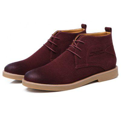 Suede Stitching Chukka Boots