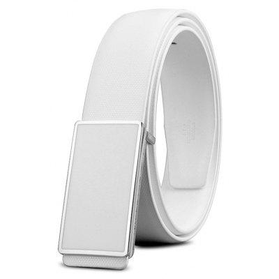 Male Smooth Buckle Genuine Leather Trouser Belt