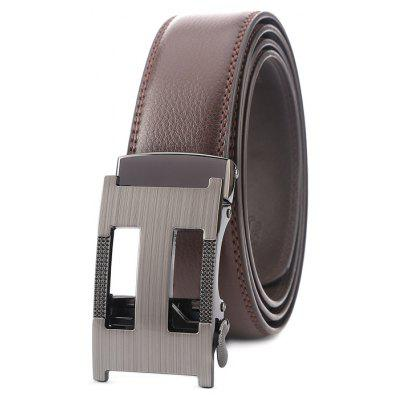Malha masculina Trendy Automatic Alooy Buckle Trouser Belt