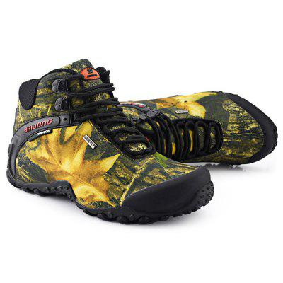 BAIDENG Male Camouflage High Boot Climbing ShoesShoes<br>BAIDENG Male Camouflage High Boot Climbing Shoes<br><br>Available Size: 40, 41, 42, 43, 44, 45, 46<br>Brand: BAIDENG<br>Closure Type: Lace-Up<br>Features: Crashworthy, Durable, Anti-slip, Breathable<br>Gender: Men<br>Highlights: Warm Keeping, Breathable<br>Package Contents: 1 x Pair of Male Camouflage High Boot Climbing Shoes<br>Package size: 32.00 x 28.00 x 12.00 cm / 12.6 x 11.02 x 4.72 inches<br>Package weight: 1.3000 kg<br>Product size: 27.00 x 8.00 x 10.00 cm / 10.63 x 3.15 x 3.94 inches<br>Season: Winter, Spring, Autumn<br>Sole Material: Rubber<br>Upper Height: High