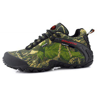 BAIDENG Male Outdoor Camouflage Hiking Athletic ShoesAthletic Shoes<br>BAIDENG Male Outdoor Camouflage Hiking Athletic Shoes<br><br>Brand: BAIDENG<br>Closure Type: Lace-Up<br>Contents: 1 x Pair of Shoes<br>Function: Slip Resistant<br>Lining Material: Mesh<br>Materials: Mesh, Rubber, Fabric<br>Occasion: Sports, Running, Riding, Outdoor Clothing, Holiday, Daily, Casual<br>Outsole Material: Rubber<br>Package Size ( L x W x H ): 31.50 x 22.00 x 11.50 cm / 12.4 x 8.66 x 4.53 inches<br>Package Weights: 1.32kg<br>Seasons: Autumn,Spring,Winter<br>Style: Modern, Leisure, Fashion, Comfortable, Casual<br>Toe Shape: Round Toe<br>Type: Sports Shoes<br>Upper Material: Cotton Fabric