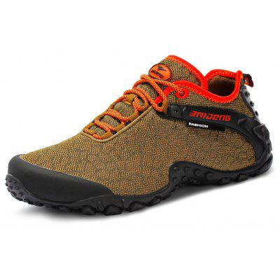 Buy KHAKI 44 BAIDENG Mesh Hiking Shoes for $35.26 in GearBest store