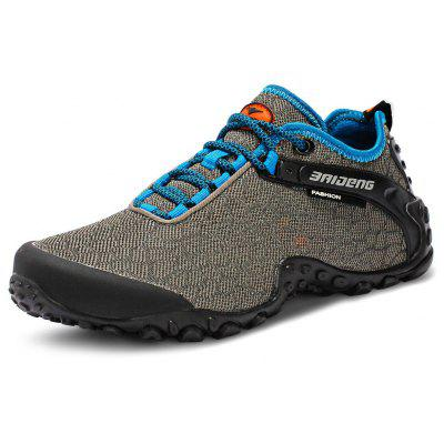 Buy GRAY 44 BAIDENG Mesh Hiking Shoes for $35.51 in GearBest store
