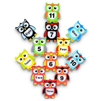 Balancing Beam Owl Pattern Model Intelligence Toy 12pcsPuzzle &amp; Educational<br>Balancing Beam Owl Pattern Model Intelligence Toy 12pcs<br><br>Age: 3 Years+<br>Applicable gender: Unisex<br>Design Style: Animal, Digital<br>Features: Educational<br>Gender: Unisex<br>Material: Wood<br>Package Contents: 12 x Owl Model, 2 x Wooden Stick<br>Package size (L x W x H): 17.50 x 15.00 x 4.00 cm / 6.89 x 5.91 x 1.57 inches<br>Package weight: 0.7000 kg<br>Product size (L x W x H): 7.00 x 5.50 x 1.00 cm / 2.76 x 2.17 x 0.39 inches<br>Product weight: 0.6000 kg<br>Small Parts: Yes<br>Type: Intelligence toys<br>Washing: No